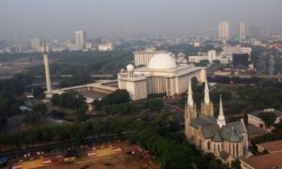 Masjid Istiqlal dan Gereja Katedral simbol toleransi dan kerukunan beragama di Indonesia. (Foto: Istimewa)