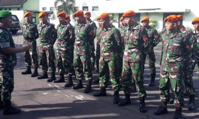 3 Matra TNI Termasuk Paskhas Siap Amankan Pemilu di jember. (FOTO: NUSANTARANEWS.CO?Siswadi)