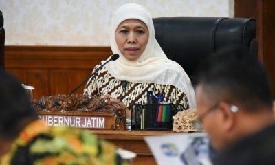Gubernur Jatim Khofifah Indar Parawansa mengingatkan soal antisipasi menghadapi bencana kekeringan di Jawa Timur, Kamis (4/4/2019). (Foto: Setya N/NUSANTARANEWS.CO)