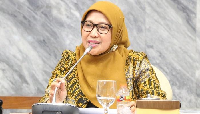 Anggota Bawaslu RI Ratna Dewi Pettalolo saat menjadi pembicara pada diskusi publik yang digelar KY di Gedung Bundar, Senayan, Jakarta, Selasa (2/4/2019). (FOTO: Dok. @KomisiYudisial)