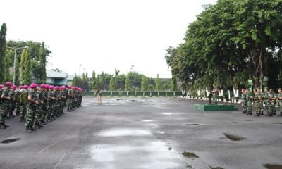 Apel Kesiapan Korem 084 H-1 Menjelang Pemilu. (FOTO: NUSANTARANEWS.CO/Agung)