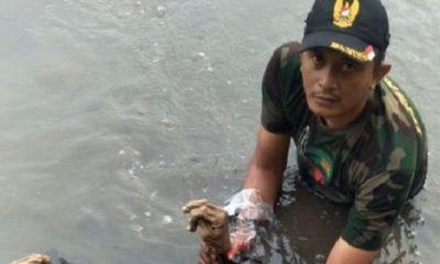 Babinsa Kodim Pasuruan Berhasil Evakuasi Mayat Berbaju Coklat, nusantaranewsco