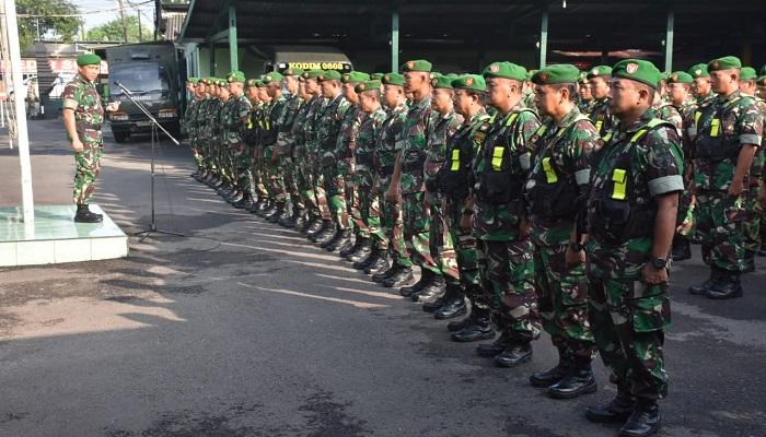 Cegah dan Deteksi Dini, TNI Madiun Gelar Apel Siaga Satu, Jumat (19/4/2019). (Foto: Istimewa)