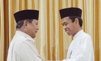 Ustad Abdul Somad (UAS) Pada Rabu, 11 April 2019, Memberikan Dukungan Kepada Calon Presiden Nomor Urut 02, Prabowo Subianto (Foto Istimewa)