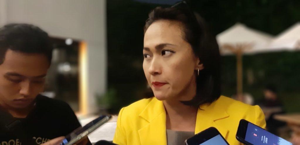 Wasekjen DPP Partai Golkar Christina Aryani Menganggap Capres 01 Serupa Tiongkok Dalam Menjalankan Ekonominya.(Foto: Adhon/NUSANTARANEWS.CO)