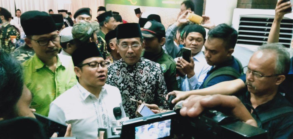 Cak Imin atau Muhaimin Iskandar Saat amenghadiri Acara Haul Pejuang NU di Kantor PBNU (Foto: Romadhon/NUSANTARANEWS.CO)
