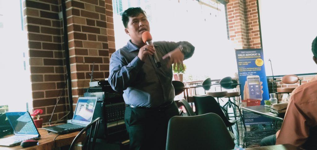 CEO HALO ADVOKAT, Sabela Gayo Saat Luncurkan Jasa Layanan Hukum Elektronik (Foto: Romadhon/NUSANTARANEWS.CO)