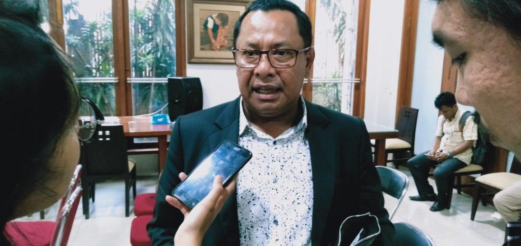 Salah satu inisiator Aliansi Advokat Indonesia Bersatu, Sapriyanto Refa menilai di bawah kepemimpinan Prabowo, penegakan hukum akan membaik (Foto: Adhon/NUSANTARANEWS.CO)