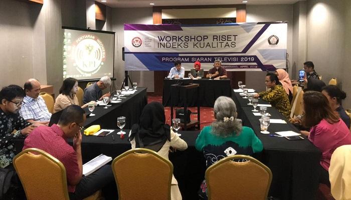 Komisi Penyiaran Indonesia (KPI) bekerjasama dengan Universitas Diponegoro (Undip) Semarang, menyelenggarakan Workshop Riset KPI 2019 yang merupakan rangkaian dari pelaksanaan Riset Indeks Kualitas Program Siaran Televisi Tahun 2019. (FOTO: NUSANTARANEWS.CO)
