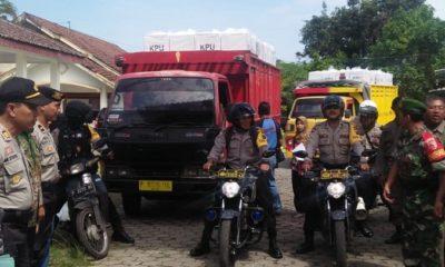 Kodim 0824 Jember menurunkan 401 TNI untuk membantu Perkuatan Polres Jember dalam Pengamanan Pemilu 2019. (FOTO: NUSANTARANEWS.CO/Siswandi)