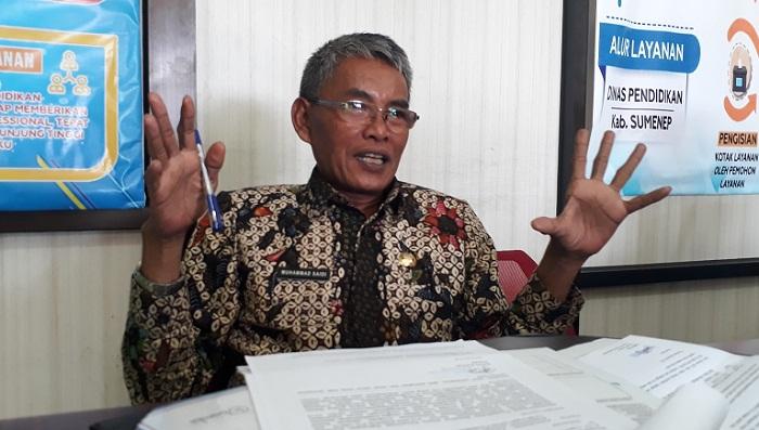 Pelaksana Tugas (Plt) Kepala Disdik Sumenep Muhammad Saidi. (FOTO: NUSANTARANEWS.CO/M. Mahdi)