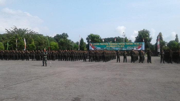 Pendidikan Pertama Tamtama TNI AD resmi ditutup. (FOTO: Istimewa)