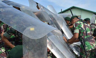 Simulasi Penanggulangan Huru-Hara (PHH) Armed 12/Kostrad. (FOTO: Penarmed12)