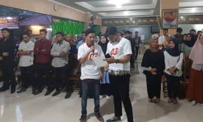 Aliansi Gerakan Mahasiswa Soloraya (AGMS) menggelar kegiatan Rapat Umum Mahasiswa dan Buka Bersama di Aula Seminar RM Dapur Ndeso Nogiri Mbak Yun. (FOTO: NUSANTARANEWS.CO)