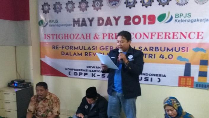Peringati May Day, Sarbumusi NU Tuntut Revisi PP 78 Tahun 2015. (Foto Dok. NUSANTARANEWS.CO)