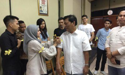 Delegasi Gerakan Pita Kuning Temui Hariman Siregar Bahas Tragedi Tewasnya Ratusan Petugas Pemilu 2019 (Foto Dok. NUSANTARANEWS.CO)