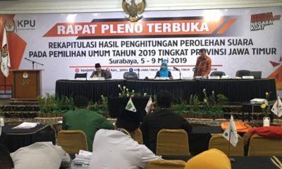 Partisipasi Masyarakat Jatim di Pemilu 2019 Lampaui Target Nasional (Foto: Tri Wahyudi/NUSANTARANEWS.CO).