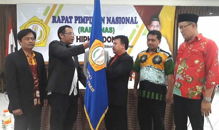 Prosesi serah terima jabatan DPP HIPKI 2019-2022. (FOTO: NUSANTARANEWS.CO)