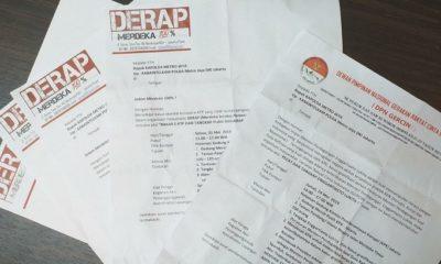 Surat Pemberitahuan Polisi Perihal Aksi DERAP 98. (FOTO: NUSANTARANEWS.CO)