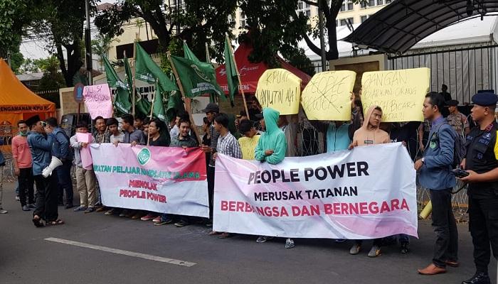tolak people power, ikatan pelajar nu, kpu dan bawaslu, pahlawan demokrasi, nusantaranews