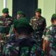 Apel Pagi, Dandim 0803/Madiun Ingatkan Tugas Dan Tanggung Jawab Sebagai Prajurit TNI – AD. (FOTO: Dok. mc0803/NN)