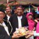 Bupati dan wakil Bupati Sumenep bersama istri saat memberikan membuka festival ketupat tahun lalu. (FOTO: NUSANTARANEWS.CO/Kahfi)