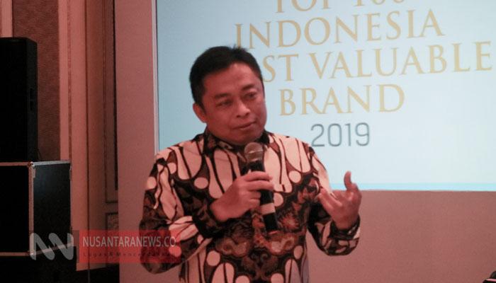 Dirut Telkom Ririek Adriansyah Memberikan Sambutan di Indonesia's Most Valuable Brand 2019. (Foto untuk NUSANTARANEWS,CO)