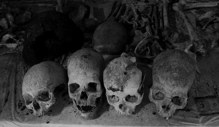 Tengkorak tentara jepang yang tewas saat Perang Dunia II di Biak Numfor, Papua. (FOTO: Ilustrasi/tirto.id/Andrey)
