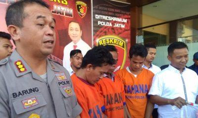 Kabidhumas Polda Jatim Kombes Pol Frans Barung Mangera Ungkap 3 pelaku pembakaran Polsek Madura Ditangkap. (Foto: Setya/NUSANTARANEWS.CO)