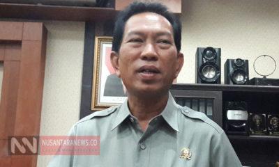 Ketua AMPG Jatim Heri Sugiyono Kecam Pihak yang Mendesakan Airlangga Mundur dari ketum Golkar. (Foto: Tri Wahyudi/NUSANTARANEWS.CO).