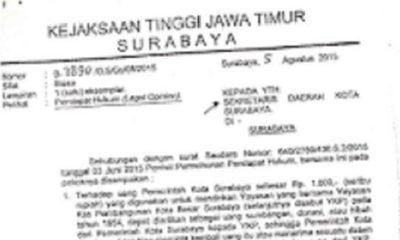 Legal Opinion Kejati Jatim Dalam Masalah YKP. (FOTO: NUSANTARANEWS.CO)