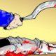 Pembunuhan dengan cara dibacok. (Ilustrasi)