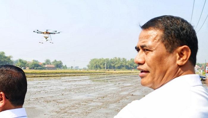 Pertanian Indonesia ke depan menggunakan Drone. (FOTO: Dok. Kementan)