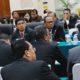 Perwakilan Pemprov Kaltara dan Pemkab Nunukan serta perwakilan Pemerintah Sabah, Malaysia pada pertemuan tim teknis dan sidang ke-24 KK/JKK pembangunan Sosekmalindo di Yogyakarta, kemarin (27/6). (FOTO: Istimewa)