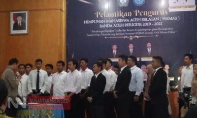 Wakil Bupati Aceh Selatan Lantik Organisasi Kepemudaan HAMAS. (Foto Dok. NUSANTARANEWS.CO).