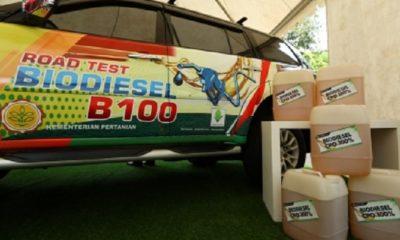 biodiesel ramah lingkungan berbahan baku 100 persen minyak sawit (Crude Palm Oil/CPO) atau B100 Kementan. (FOTO: Kementan)
