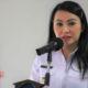 Bupati Landak Provinisi Kalbar Karolin Margret Natasa resmi menghibahkan tanah milik daerah Kabupaten Landak untuk lokasi Makodim Mempawah. (Foto: Eddy Santri/Nusantaranews.co)