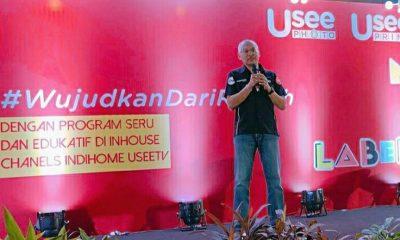 Executive General Manager Divisi TV Video Telkom A.A. Gede Mayun Wirayuda saat menyampaikan penjelasan lima channel inhouse IndiHome UseeTV yaitu UseePrime, UseePhoto, idKU Channel dan Ruang Trampil dalam acara Media & Label Gathering di Jakarta, Selasa (30/7/2019). (FOTO: Dok. Telkom)