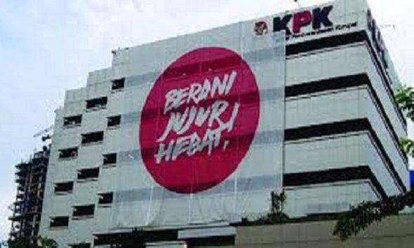 Gedung KPK betuliskan Berani Jujur Hebat! (Foto: Istimewa)