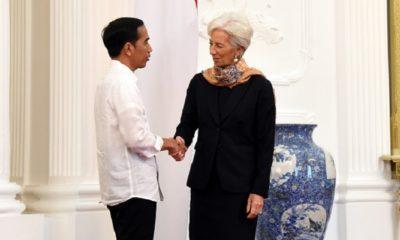 Managing Director IMF Christine Lagarde mengunjungi Presiden Joko Widodo di Istana Merdeka, Senin (26/2/2018). (Foto: Humas Setkab)