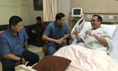 Wamenhan era SBY Sjafrie Sjamsoeddin Semangati Sofyan Jacob Usai Operasi Jantung. (Foto Dok. @Sjafriesjams/twitter)