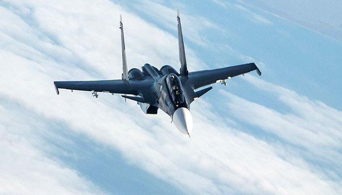 Jet tempur Sukhoi SU-30sm Angkatan Udara Rusia (Foto: Sputnik)