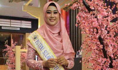 Nurul Annisa Mahasiswa Hukum Tata Negara (HTN) Fakultas Syariah dan Ilmu Hukum Islam Institut Agama Islam Negeri (IAIN) Parepare berhasil ditahbiskan sebagai Juara I Putri Sulsel pada Grand Final ajang Pemilihan Putra Putri Sulawesi Selatan Tahun 2019. (Foto: Istimewa)