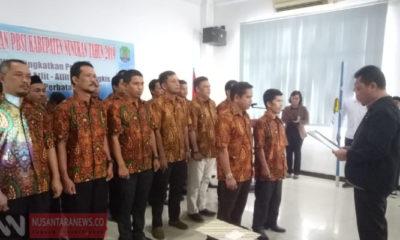 Pelantikan Pengurus Baru PBSI Nunukan (Foto: NUSANTARANEWS.CO/Edy Santri).