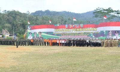 Pembukaan TMMD ke-105 Jawa Timur. (FOTO: Pendam v/Brawijaya/NN)