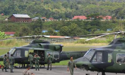 Pencarian Helly MI 17 atau Helikopter M-17 Jalur Udara di hari ke-7 (Foto Dok. Pendam Cendrawasih untuk NUSANTARANEWS.CO).