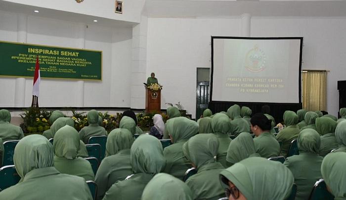 Persatuan Istri Prajurit di wilayah Surabaya, menggelar suatu kegiatan bertajuk Inspirasi Sehat. (FOTO: NUSANTARANEWS.CO/Prasetyo)