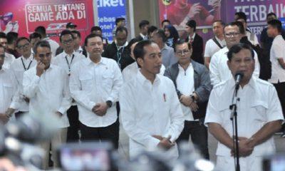 Pertemuan Jokowi dan Prabowo didampingi sejummlah tokoh seperti Pramono, Budi Karya, dan Budi Gunawan. (FOTO: Istimewa)