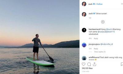 Postingan Instagram Mark Suckerberg yang dikomentari Menteri Susi Pudjiastuti. (FOTO: Crop)
