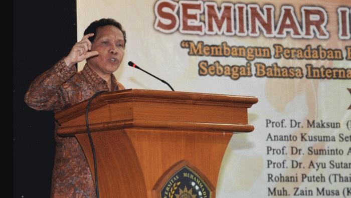 Mantan Kepala Badan Pengembangan dan Pembinaan Bahasa, Prof. Dr. Mahsun. (FOTO: Dok. UMM)